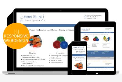 Homepage für Ergotherapie