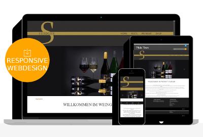 Referenz für Onlineshop von Weingut Stadler