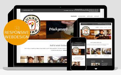 Responsive Webdesign als Referenz für Homepages von Unternehmen