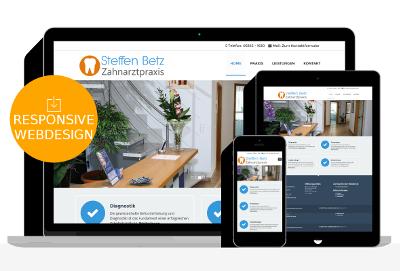 Webdesign Referenz für Relaunch Zahnarzt Praxis