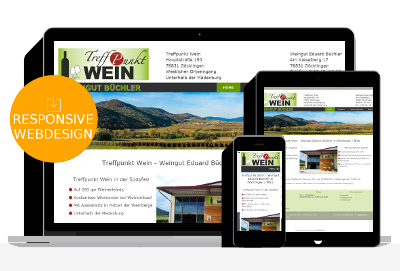 Webdesign für Weingut