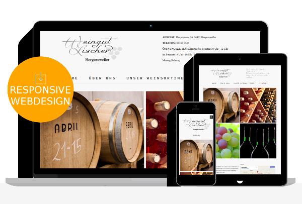 Weingut Webdesign