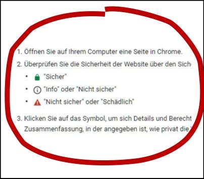 SSL Zertifikat Hinweis