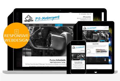 Webdesign für KFZ Motortuning Werkstatt