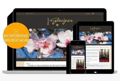 Homepage für Weingut Geiger bei Landau