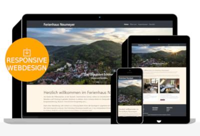 Ferienhaus Webdesign bei Dahn