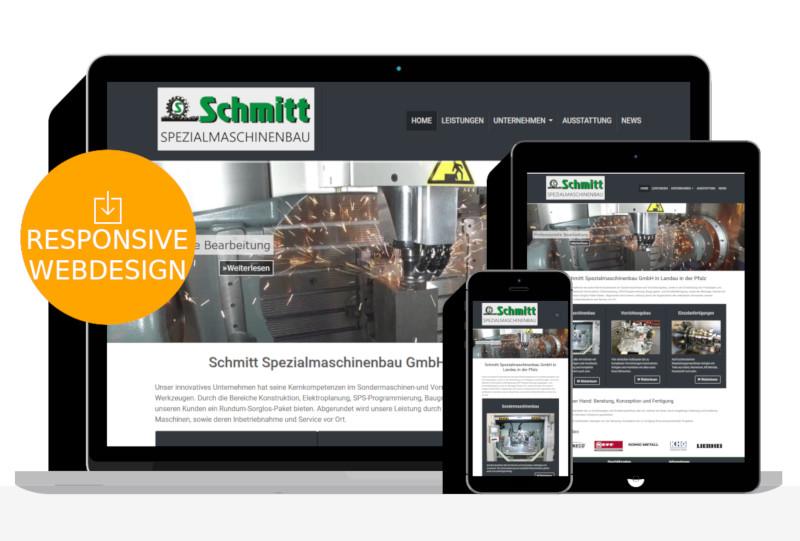 Webdesign für Maschinenbau Unternehmen in Landau