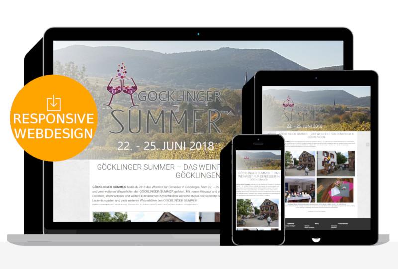 Homepage Erstellung Veranstaltungsportal