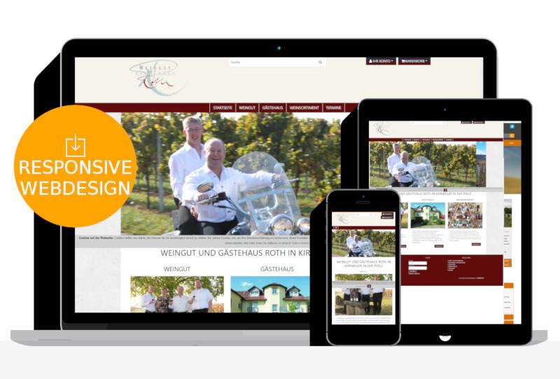 Webdesign für Weingut Roth aus Kirweiler